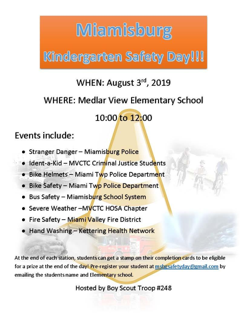 Miamisburg Kindergarten Safety Day